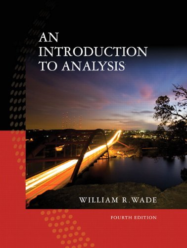 Introduction to Analysis  4th 2010 edition cover