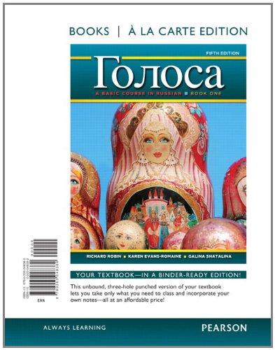 Golosa A Basic Course in Russian, Book One, Books a la Carte Edition 5th 2012 edition cover