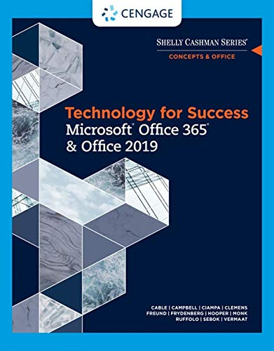 Discovering Computers & Microsoft Office 365 & Office 2019: A Fundamental Combined Approach  2019 9780357026380 Front Cover