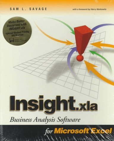 Insight Business Analysis Tools for Microsoft Excel  1998 9780534520380 Front Cover