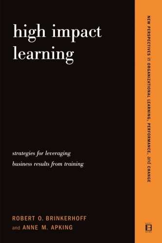 High Impact Learning Strategies for Leveraging Performance and Business Results from Training Investments  2001 edition cover