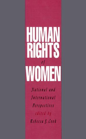 Human Rights of Women National and International Perspectives  1994 edition cover