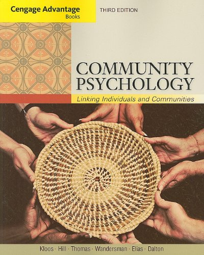 Community Psychology Linking Individuals and Communities 3rd 2012 9781111830380 Front Cover