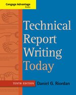 Technical Report Writing Today  10th 2014 edition cover