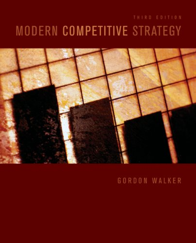 Modern Competitive Strategy  3rd 2009 9780073381381 Front Cover