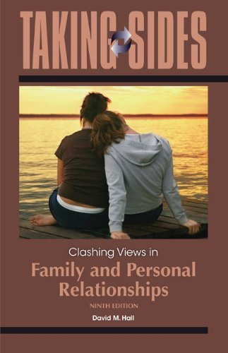 Taking Sides: Clashing Views in Family and Personal Relationships  9th 2013 9780078050381 Front Cover