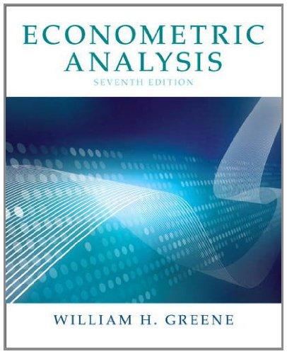 Econometric Analysis  7th 2012 edition cover