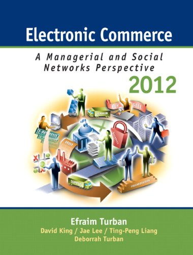 Electronic Commerce 2012 Managerial and Social Networks Perspectives 7th 2012 (Revised) edition cover