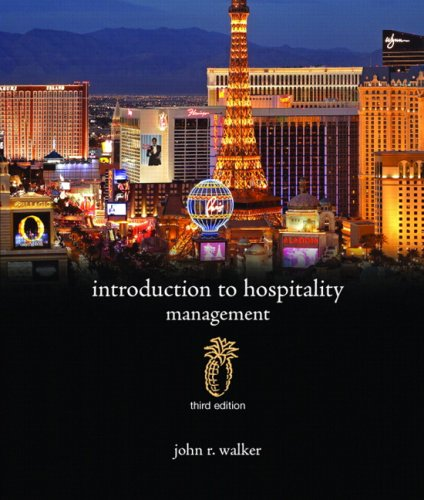 Introduction to Hospitality Management  3rd 2010 edition cover