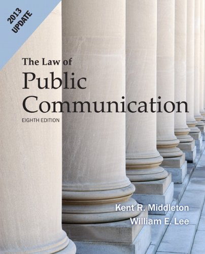 Law of Public Communication 2013 Update  8th 2013 edition cover