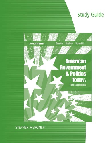 American Government and Politics Today 2009-2010 15th 2010 (Guide (Pupil's)) edition cover