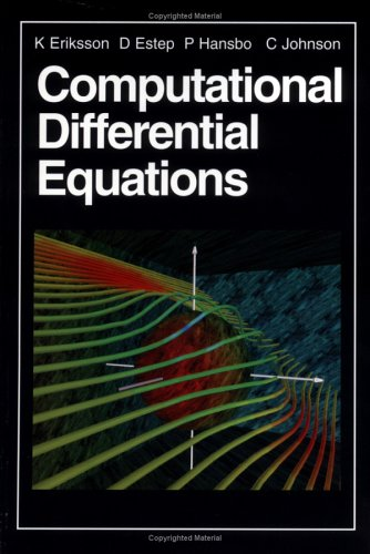 Computational Differential Equations  2nd 1996 9780521567381 Front Cover