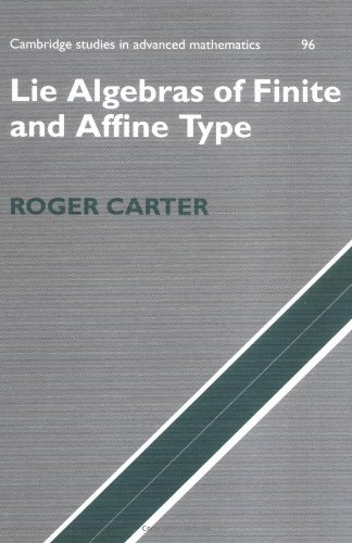 Lie Algebras of Finite and Affine Type   2005 9780521851381 Front Cover