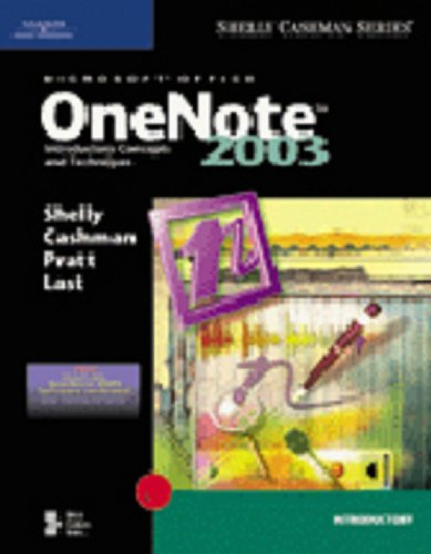 Microsoft Office OneNote 2003 Introductory Concepts and Techniques  2005 edition cover