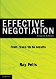 Effective Negotiation From Research to Results 2nd 2012 (Revised) 9781107605381 Front Cover