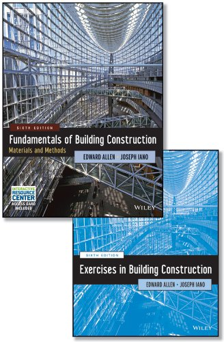 Set Fundamentals of Building Construction, Sixth Edition with Interactive Resource Center Access Card and Construction Exercises 6E  N/A 9781118821381 Front Cover