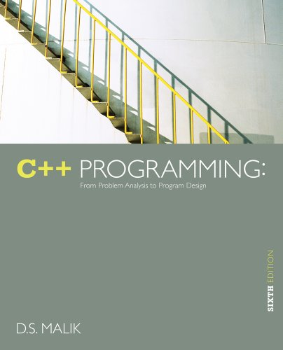 C++ Programming From Problem Analysis to Program Design 6th 2013 edition cover