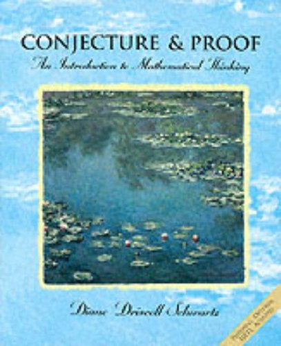 Conjecture and Proofs An Introduction to Mathematical Thinking  1997 edition cover