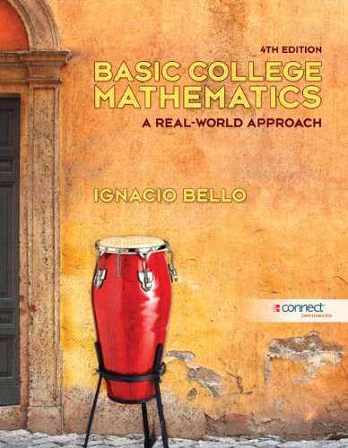 Basic College Mathematics A Real-World Approach 4th 2012 edition cover