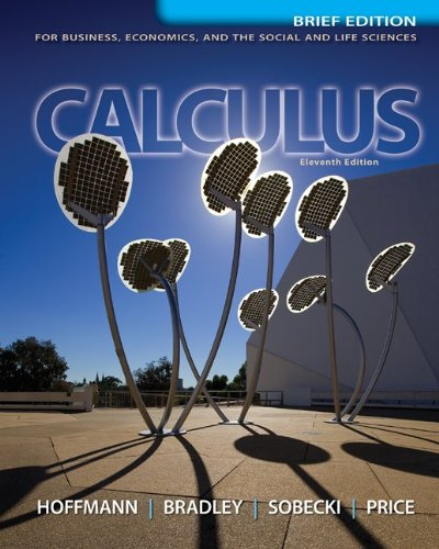 Student's Solution Manual for Calculus for Business, Economics, and the Social and Life Sciences  11th 2013 edition cover