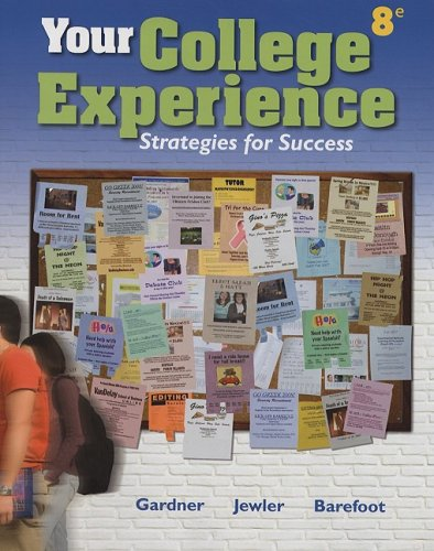 Your College Experience  8th 2008 9780312683382 Front Cover