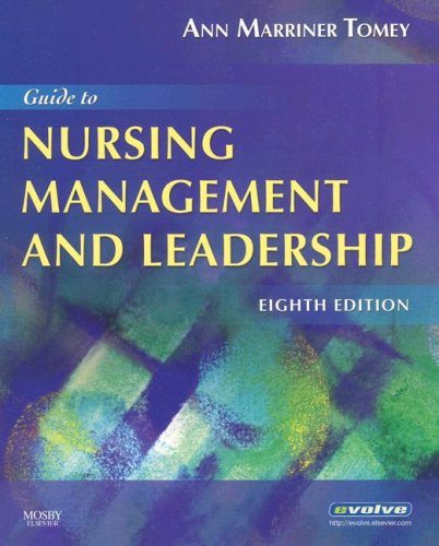 Guide to Nursing Management and Leadership  8th 2008 edition cover