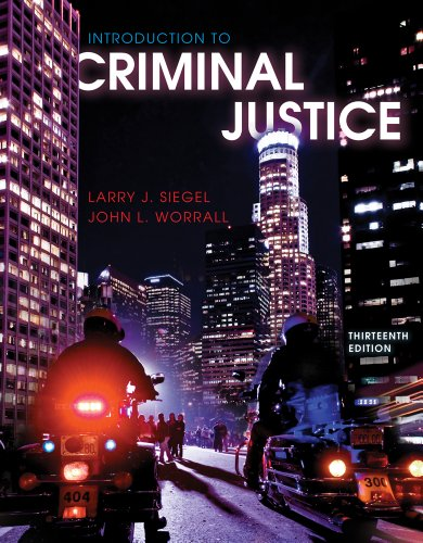 Introduction to Criminal Justice  13th 2012 edition cover