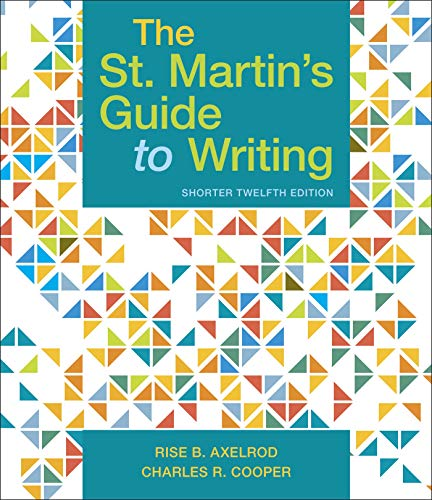 St. Martin's Guide to Writing, Short Edition  12th 9781319104382 Front Cover