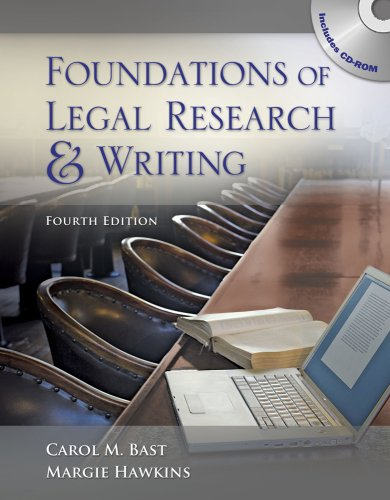 Foundations of Legal Research and Writing  4th 2010 edition cover