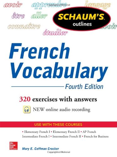 Schaum's Outline of French Vocabulary  4th 2014 edition cover
