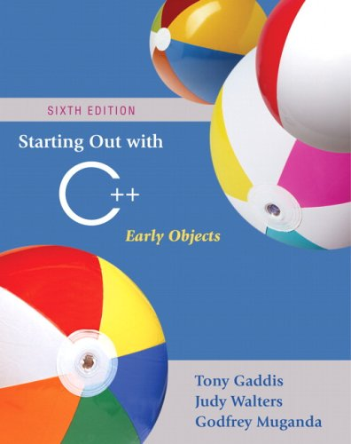 Starting Out with C++ Early Objects 6th 2008 edition cover