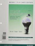 College Mathematics for Business, Economics, Life Sciences and Social Sciences Books a la Carte Edition  13th 2015 edition cover