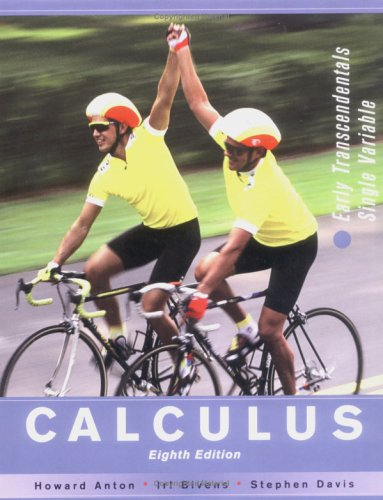 Calculus Early Transcendentals Single Variable 8th 2005 (Revised) 9780471482383 Front Cover