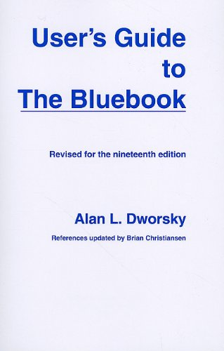 User's Guide to the Bluebook  19th 2010 edition cover