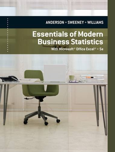 Essentials of Modern Business Statistics  5th 2012 9780840062383 Front Cover