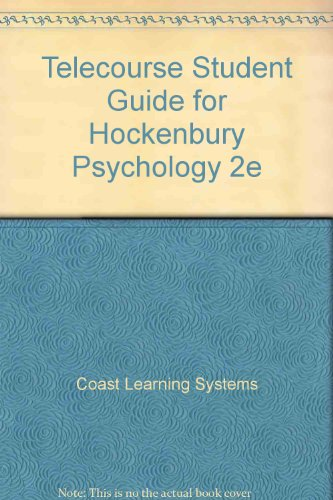 Telecourse For Hockenbury Psychology 2nd 2001 (Student Manual, Study Guide, etc.) 9781572599383 Front Cover
