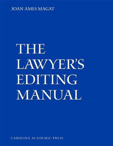 Lawyer's Editing Manual  N/A edition cover
