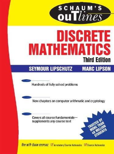Schaum's Outlines of Discrete Mathematics  3rd 2007 (Revised) edition cover
