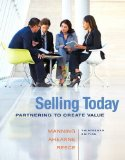 Selling Today Partnering to Create Value 13th 2015 edition cover