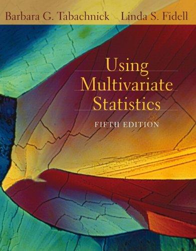 Using Multivariate Statistics  5th 2007 (Revised) edition cover