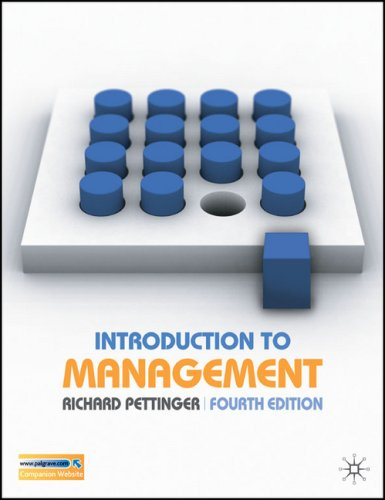 Introduction to Management  4th 2006 (Revised) 9780230000384 Front Cover