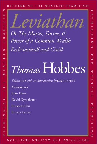 Leviathan Or the Matter, Forme, and Power of a Common-Wealth Ecclesiasticall and Civill  2010 9780300118384 Front Cover