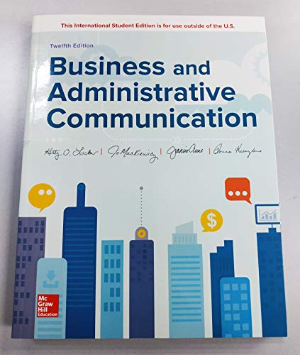 ISE Business and Administrative Communication  12th 2019 9781260288384 Front Cover