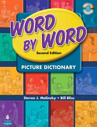 Word by Word Picture Dictionary with WordSongs Music CD  2nd 2008 edition cover