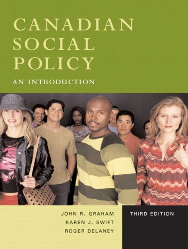 CANADIAN SOCIAL POLICY 3rd 2009 edition cover