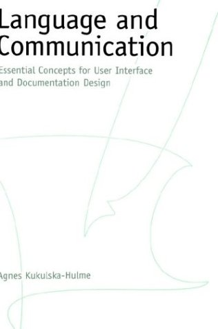 Language and Communication Essential Concepts for User Interface and Documentation Design  1999 9780195108385 Front Cover
