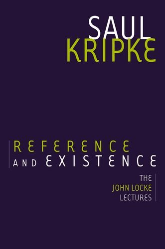 Reference and Existence The John Locke Lectures  2013 edition cover