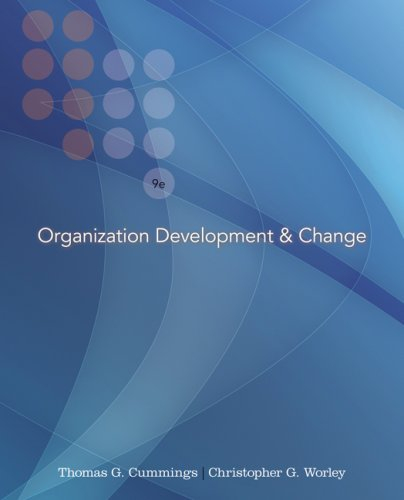 Organization Development and Change  9th 2009 edition cover