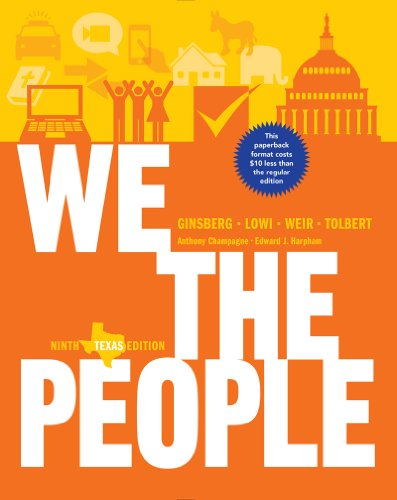 We the People An Introduction to American Politics 9th edition cover