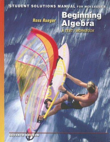 Beginning Algebra  7th 2007 9780495107385 Front Cover